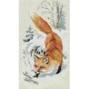 """Набор для вышивания """"По первому снегу"""" J-7111 22.5х38см"""